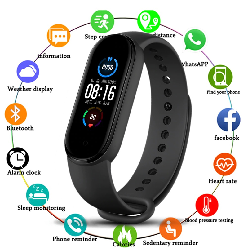 M5 Band Sport Wristband Blood Pressure Monitor Heart Rate