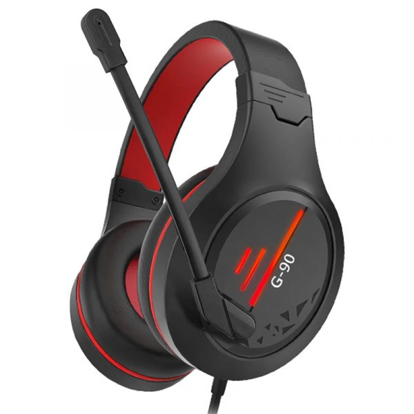 G90 Gaming Headsets Big Headphones with Light Mic