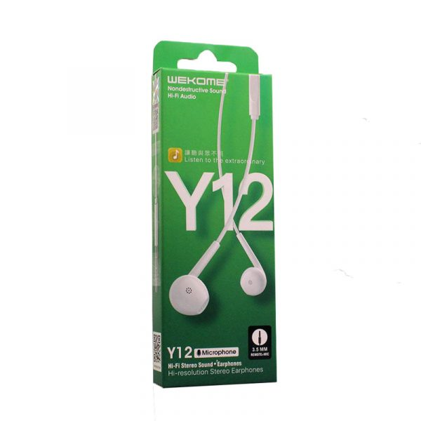 Remax Y12 Wired Sterio Handfree 3.5mm